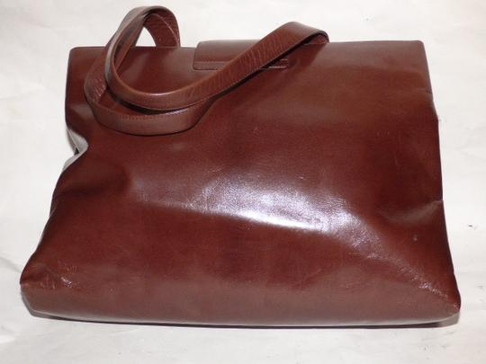 BVLGARI Made By Xl Tote/Satchel Gold Hardware Great Everyday Mint Condition Satchel in Brown Image 6