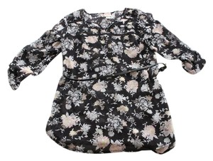 Mossimo Supply Co. Floral Studded Belted Sheer Top Black