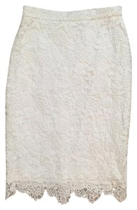 Banana Republic Pencil Lace Lace Skirt White