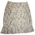 Anthropologie Pleated Hem Cotton Skirt FLORAL Image 0