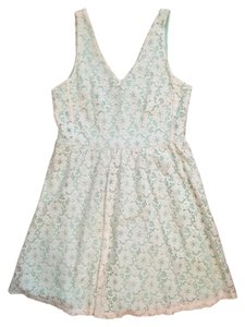 Lush short dress Teal and white Cocktail Lace on Tradesy