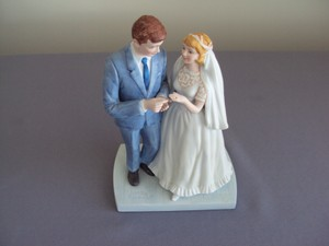 Norman Rockwell Bride Groom Figurine 1981