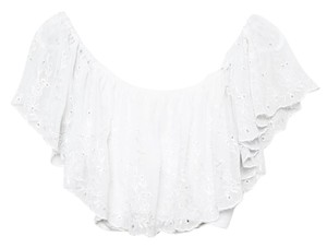 Forever 21 Crop Lace Top White