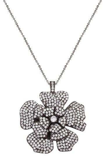 Preload https://img-static.tradesy.com/item/18745720/cubic-zirconia-black-and-white-large-flower-ships-next-day-necklace-0-1-540-540.jpg