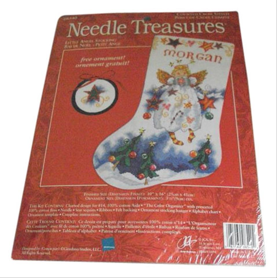 Christmas Stocking Kit.New Vintageneedle Treasure Angel Christmas Stocking Kit Cross Stitch