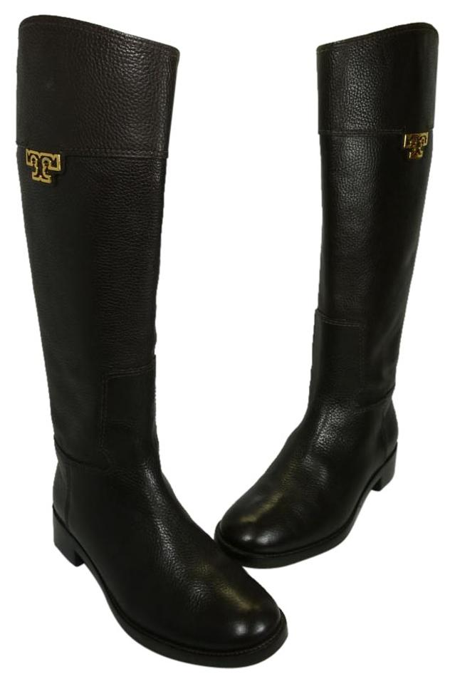 f647c1369a09 Tory Burch Chocolate Brown Wembley Riding Boots Booties Size US 8 ...