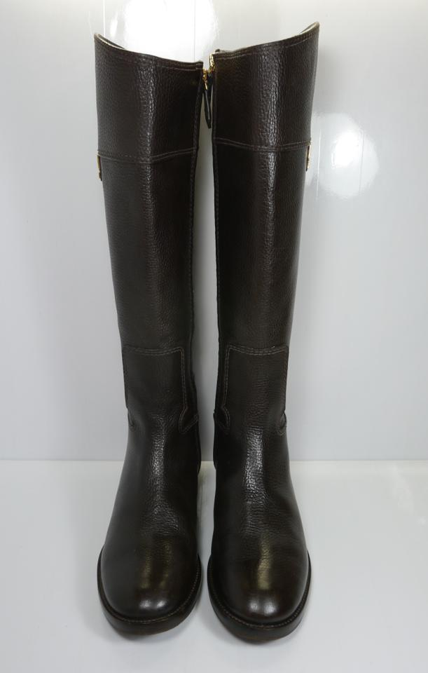 40253665842c Tory Burch Chocolate Brown Wembley Riding Boots Booties Size US 8 Regular  (M