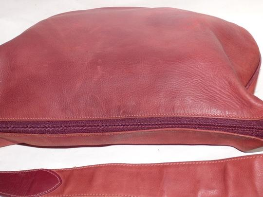 Gucci Equestrian Accents Excellent Vintage Ox Blood Xl Size Style High-end Bohemian Hobo Bag Image 1