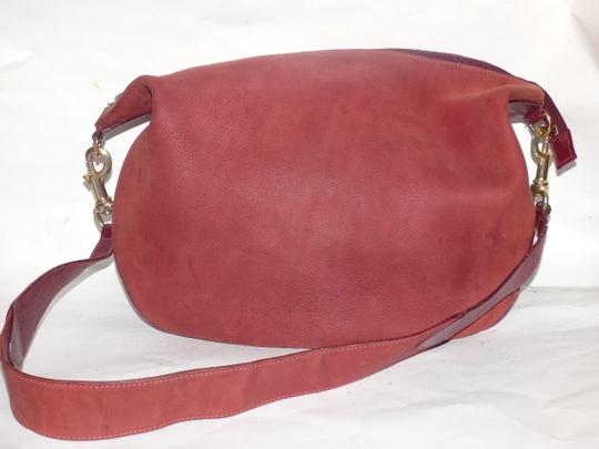Gucci Equestrian Accents Excellent Vintage Ox Blood Xl Size Style High-end Bohemian Hobo Bag Image 10