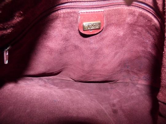 Gucci Equestrian Accents Excellent Vintage Ox Blood Xl Size Style High-end Bohemian Hobo Bag Image 4