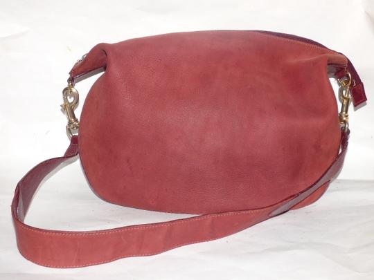 Gucci Equestrian Accents Excellent Vintage Ox Blood Xl Size Style High-end Bohemian Hobo Bag Image 5