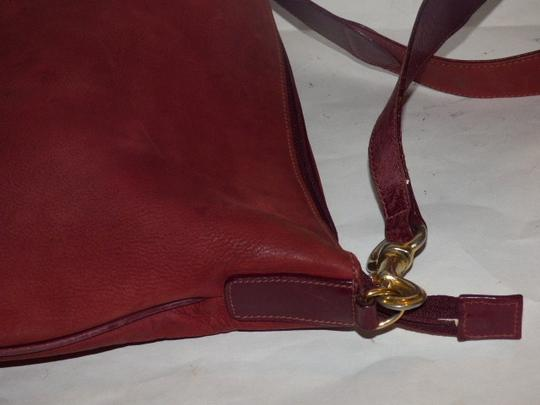 Gucci Equestrian Accents Excellent Vintage Ox Blood Xl Size Style High-end Bohemian Hobo Bag Image 6