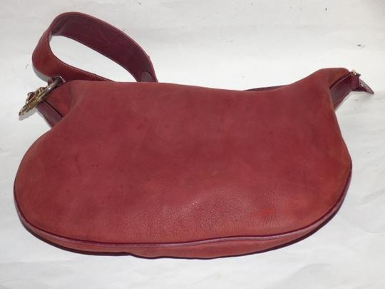 Gucci Equestrian Accents Excellent Vintage Ox Blood Xl Size Style High-end Bohemian Hobo Bag Image 8