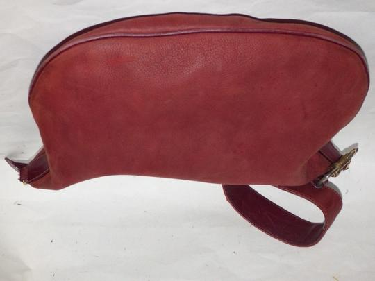 Gucci Equestrian Accents Excellent Vintage Ox Blood Xl Size Style High-end Bohemian Hobo Bag Image 9