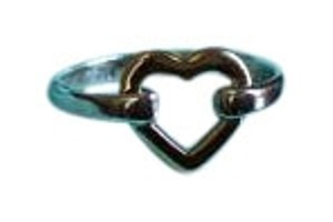 f109c2ced Tiffany & Co. Silver and Gold Two Tone Heart Ring - Tradesy