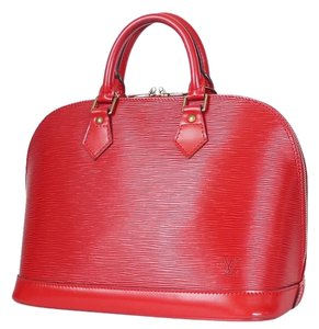 Louis Vuitton Town Lv Tote Vintage Satchel in Red
