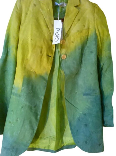 Preload https://img-static.tradesy.com/item/18745981/romeo-gigli-green-mustard-made-in-italy-embroidered-spring-jacket-size-6-s-0-1-650-650.jpg