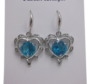 Other Heart Sky Blue Fashion Earrings w Free Shipping