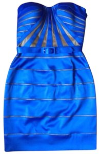 Aidan Mattox Cocktail Bandage Blue Mini Dress
