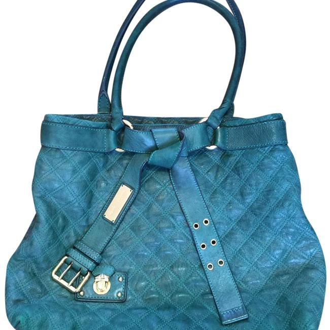 Item - Classic Quilted Olive Green Leather Tote