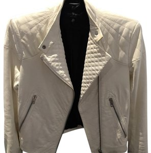 Rag & Bone Antique White Leather Jacket