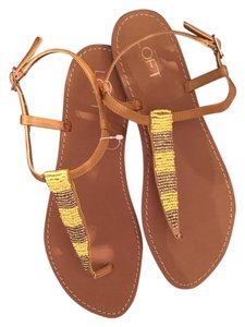 Ann Taylor LOFT Yellow and Brown Sandals