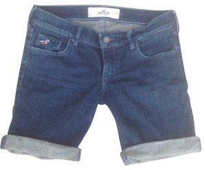 Hollister Cuffed Shorts Blue