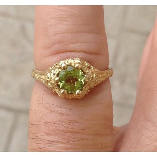 Other peridot, 10k solitiare, filigree ring Image 3