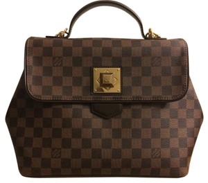 Louis Vuitton Satchel in Damier Ebene Brown