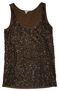 J.Crew Sequin Top Brown / Bronze