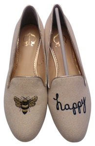 C. Wonder Slipper Metallic Loafers neutral Flats