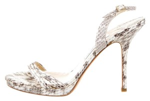 Jimmy Choo Snakeskin White Sandals