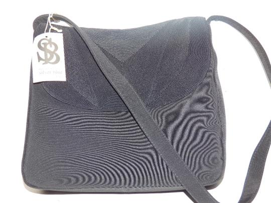 Silver Blue Modern And Chic Envelope Style 1940's Corde Fabric New With Tags Retro Rockabilly Hobo Bag Image 7