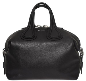 Givenchy Leather Nightingale Satchel in Black