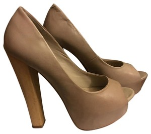 Steve Madden Blush/Nude/Bone Platforms