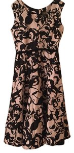 Taylor Formal Pink Black Vintage Inspired Floral Dress