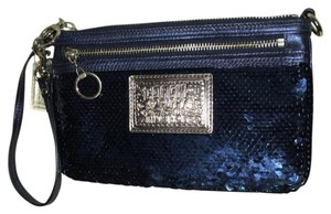 Coach Wristlet in Blue Reflective
