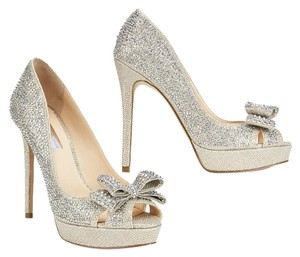 INC International Concepts Silver, Crystal Pumps