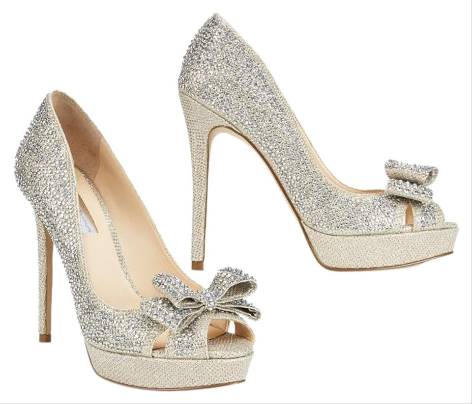 fe4369462060 INC International Concepts Silver Crystal Vernaa Rhinestone Bow Platform Sparkle  Pumps. Size  US 11 ...