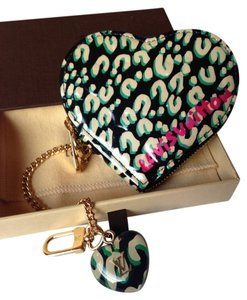 Louis Vuitton RARE Louis Vuitton Stephen Sprouse Limited Edition Vernis Leopard Heart Coin Purse Cles