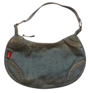 Mudd Denim Studded Weekend Hobo Bag