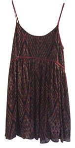 Free People short dress Black/red on Tradesy