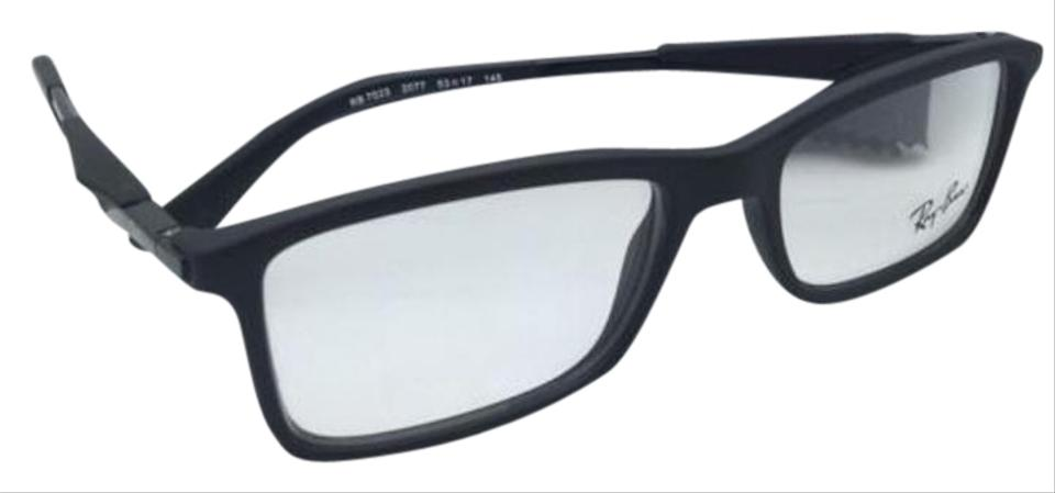 Ray-Ban Rb 7023 2077 55-17 Matte Black New Rx-able Eyeglasses Frame ...