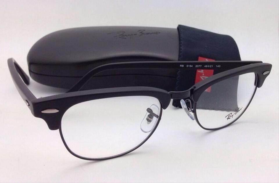 99672de72df Ray-Ban Rb 5154 2077 49-21 Matte Black New Clubmaster Eyeglasses - Tradesy