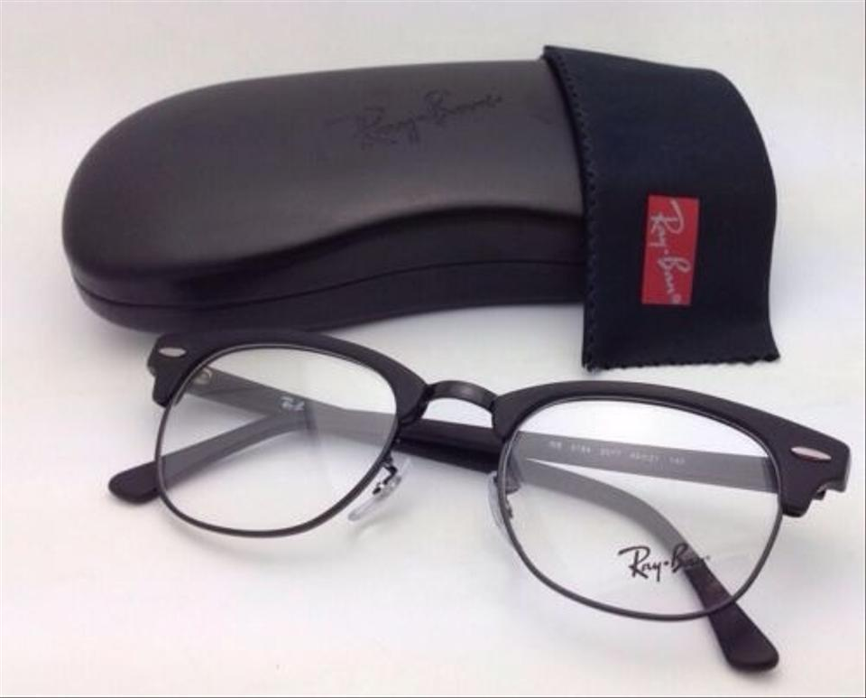a9232cd36d Ray-Ban Rb 5154 2077 49-21 Matte Black New Clubmaster Eyeglasses - Tradesy