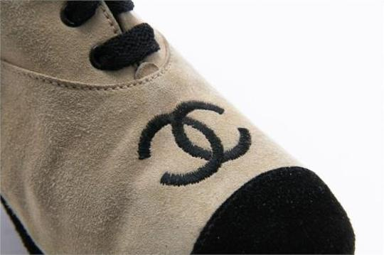 Chanel Womens Vintage Suede High Heel Ankle Beige Boots