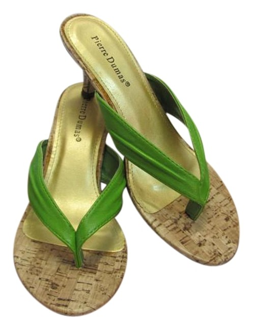Item - Green Neutral M Very Good Condition Sandals Size US 7 Regular (M, B)