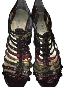 Madden Girl Multi colored brown, red, yellow, green, tortoiise Pumps