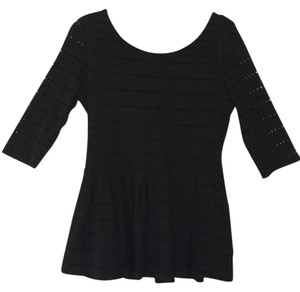 Eight Sixty Cut-out Peplum Top Black