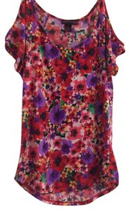 Material Girl Flora Cold Shoulder T Shirt